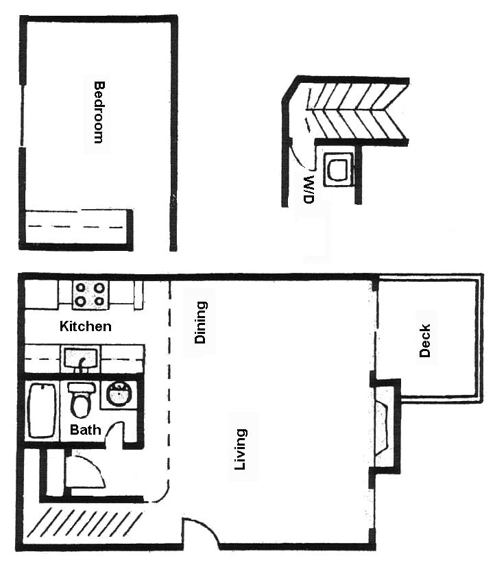 Loft, 1 Bedroom Floor Plan