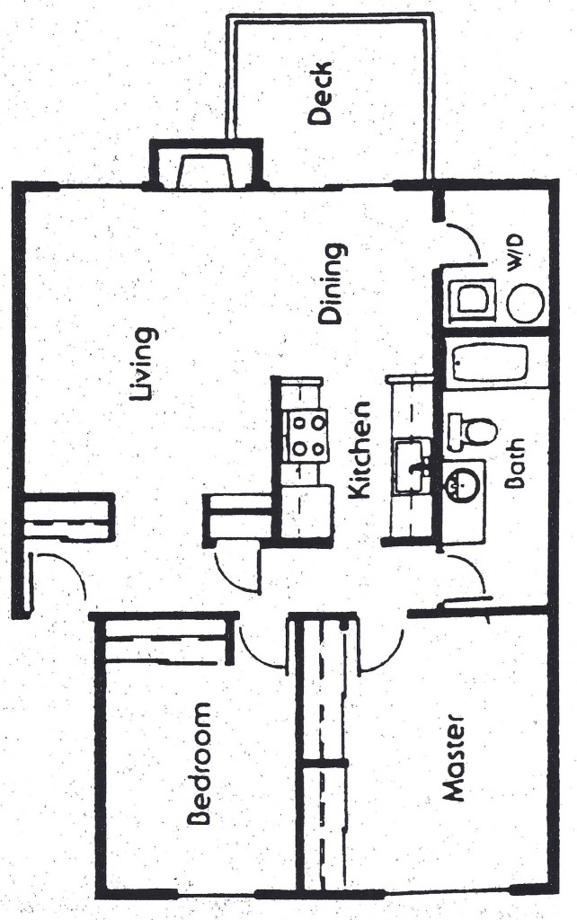 Medium 2 Bedroom Floor Plan